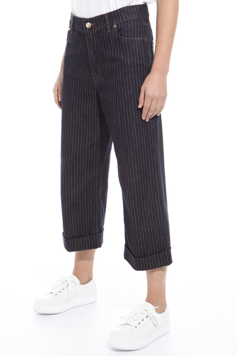 Pinstriped denim trousers Intrend