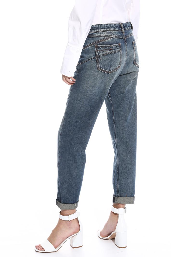 Jeans boyfriend in denim Intrend