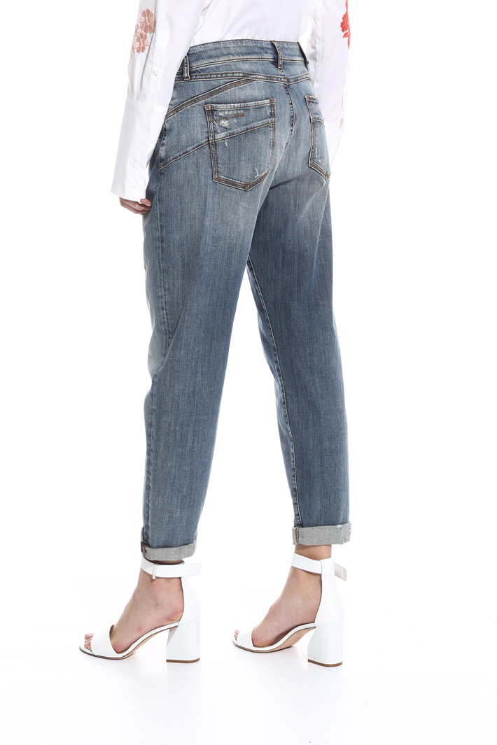 Jeans boyfriend a vita bassa Intrend