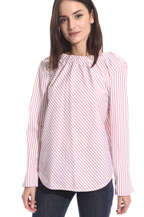 Ruched neck blouse Diffusione Tessile