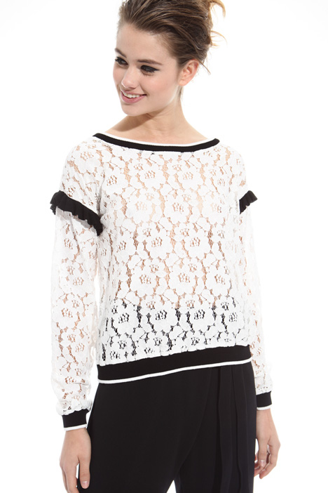 Frilled sleeve sweater Intrend