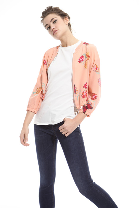 Crepe de chine bomber jacket Intrend