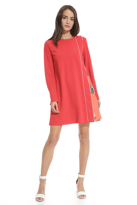 Flared dress with insert Diffusione Tessile