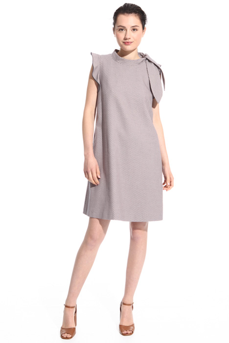 Stretch cotton sheath dress Intrend