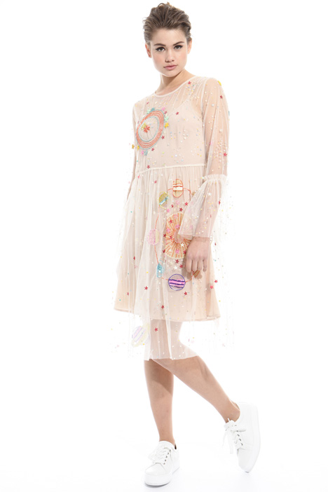 Embroidered tulle dress Intrend