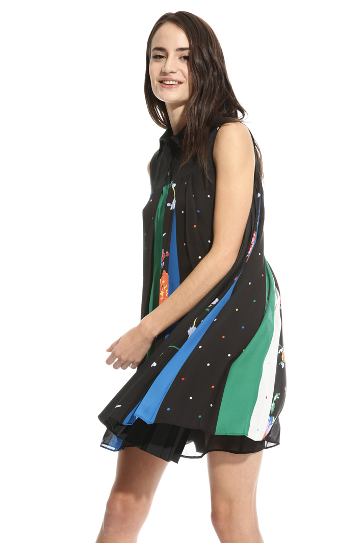 Abito in georgette multicolor Intrend