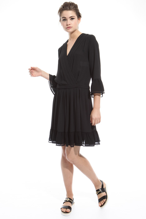 Pleated dress with flounces Diffusione Tessile