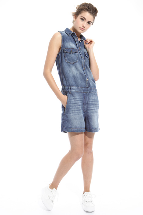 Short denim jumpsuit Intrend