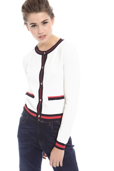 Contrasting edge cardigan Intrend
