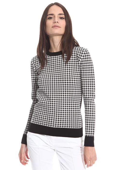 Textured viscose sweater Intrend