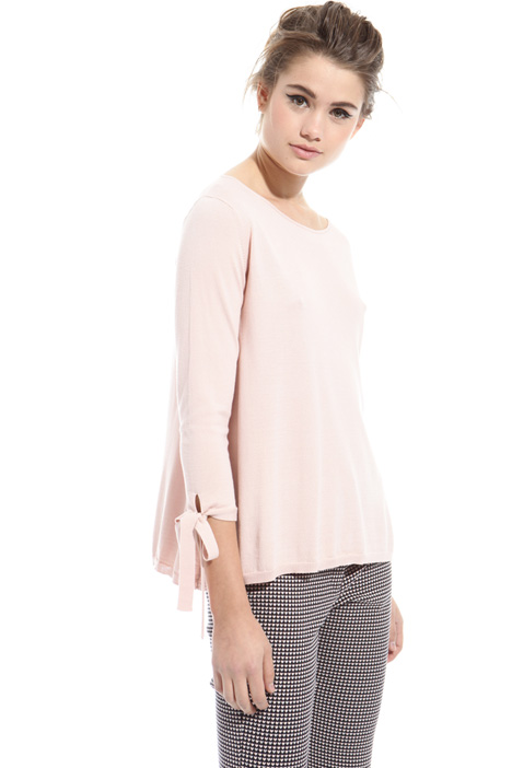 Flared sweater with laces Intrend