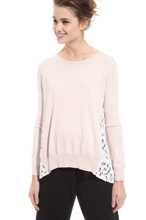 Lace insert sweater Intrend