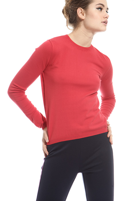 Crew neck viscose sweater Intrend