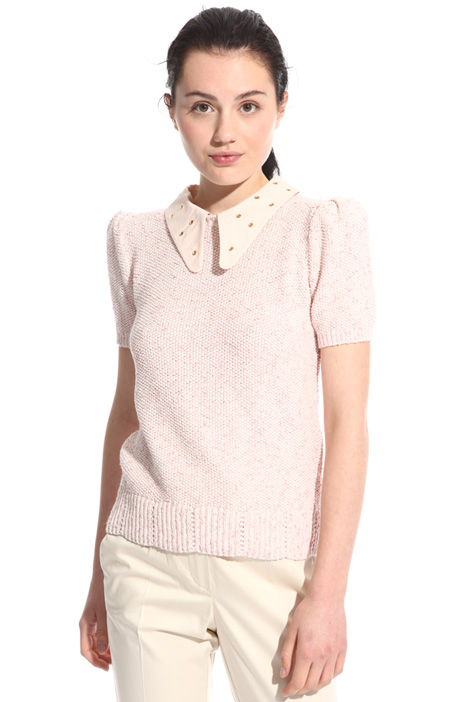 Decorated collar sweater Intrend