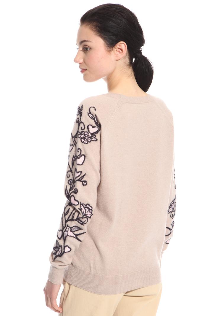 Maglia misto lana con ricami Intrend