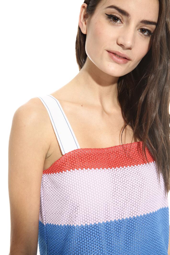 Mini abito in tessuto crochet Intrend