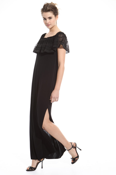 Long dress with slit Diffusione Tessile