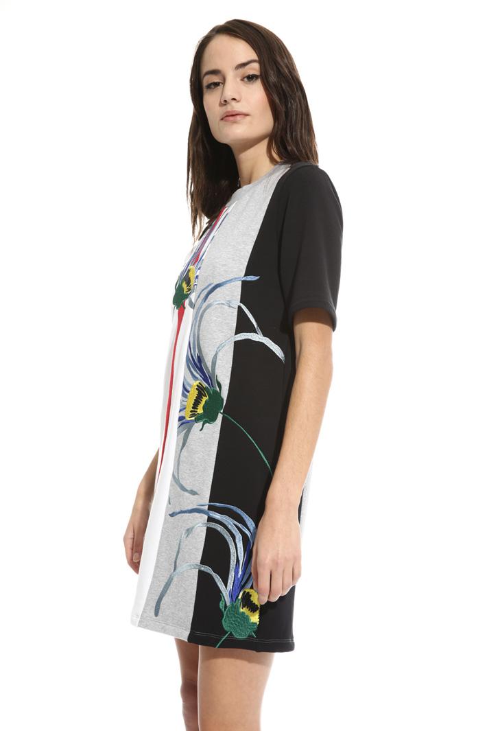 Embroidered fleece dress Intrend