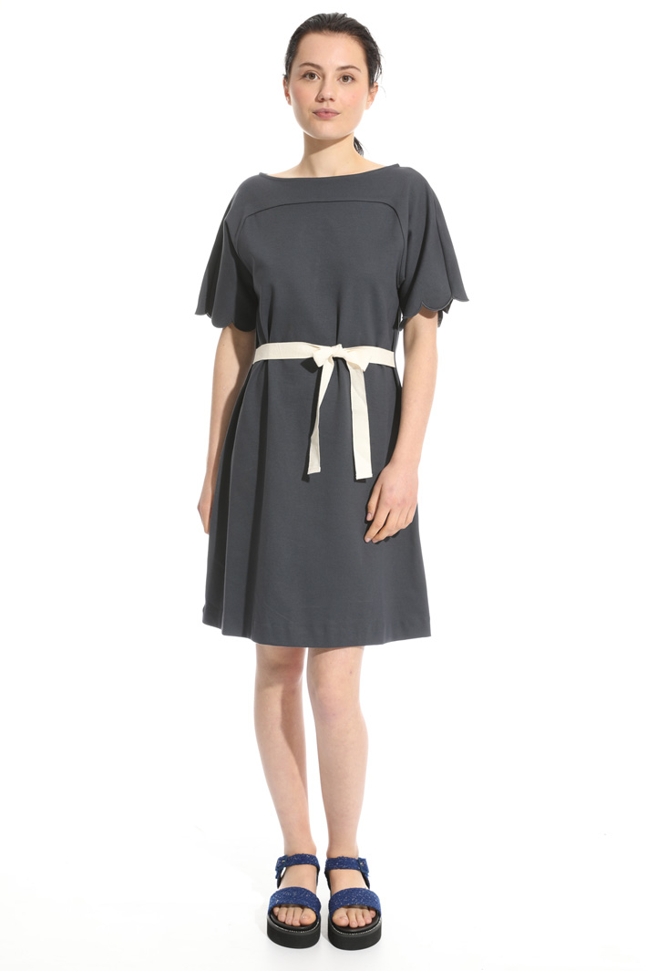 Flared cotton jersey dress Intrend