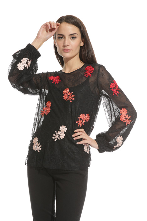 Blusa in tulle stretch Intrend