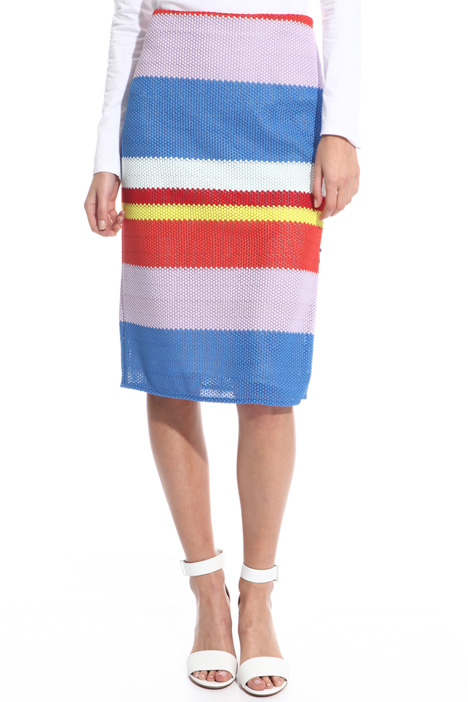 Multi-coloured pencil skirt Intrend