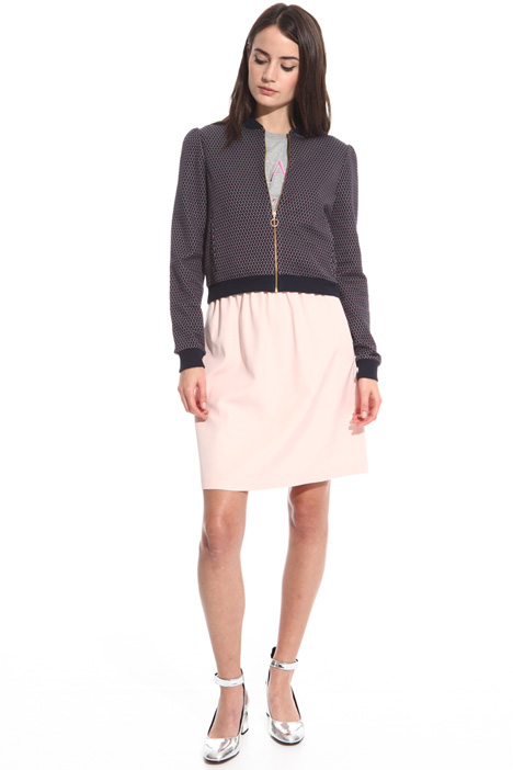 Bomber in jersey jacquard Intrend