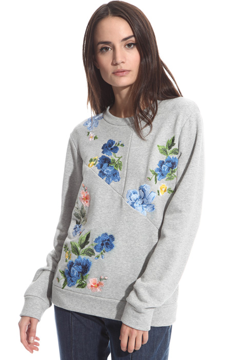 Floral embroidery sweatshirt Intrend