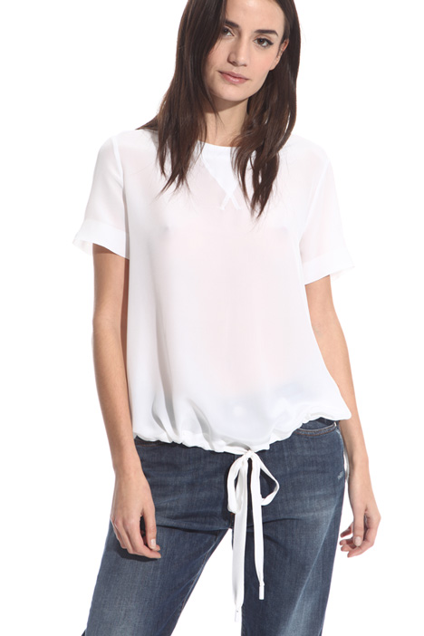 Ruched hem T-shirt Diffusione Tessile