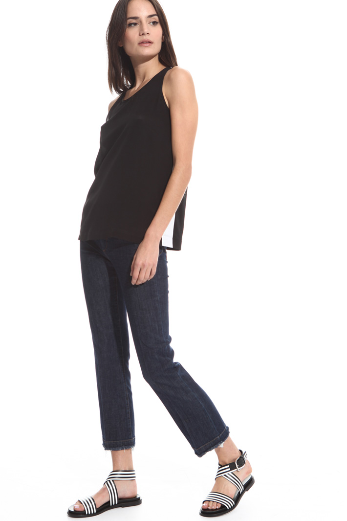 Silk and cotton tank top Intrend