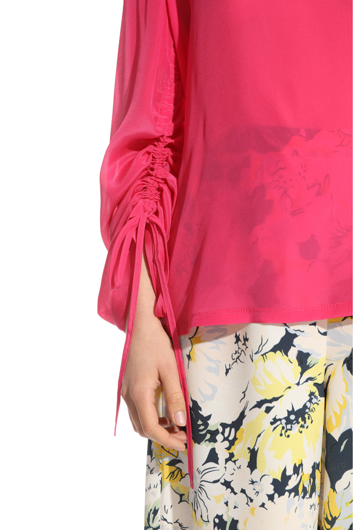 Mixed fabric blouse Intrend