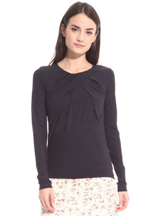 Double-mesh jersey top Intrend