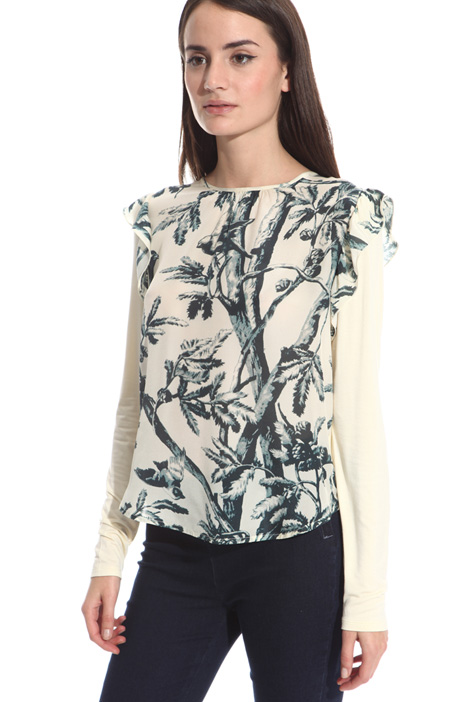 Top in jersey e crepe Intrend