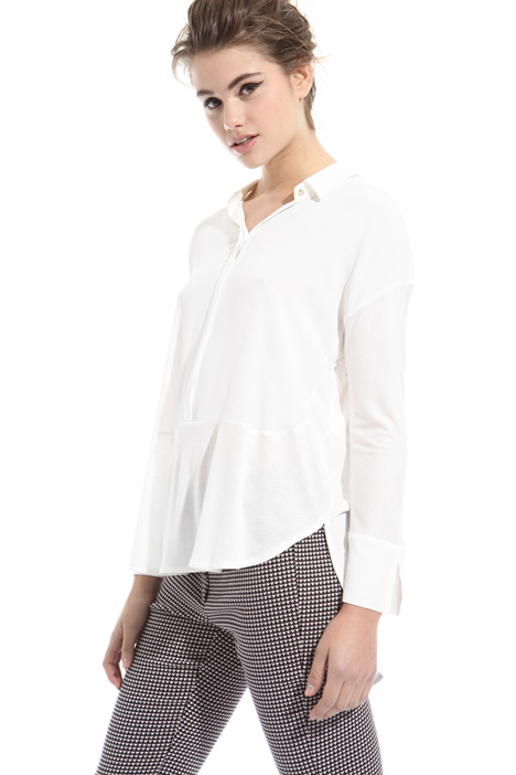 Blusa in jersey e crepe Diffusione Tessile