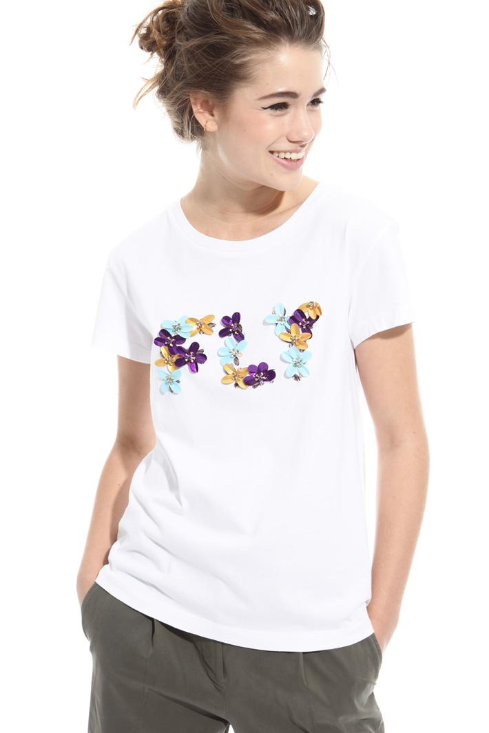 T-shirt con ricamo a rilievo Intrend