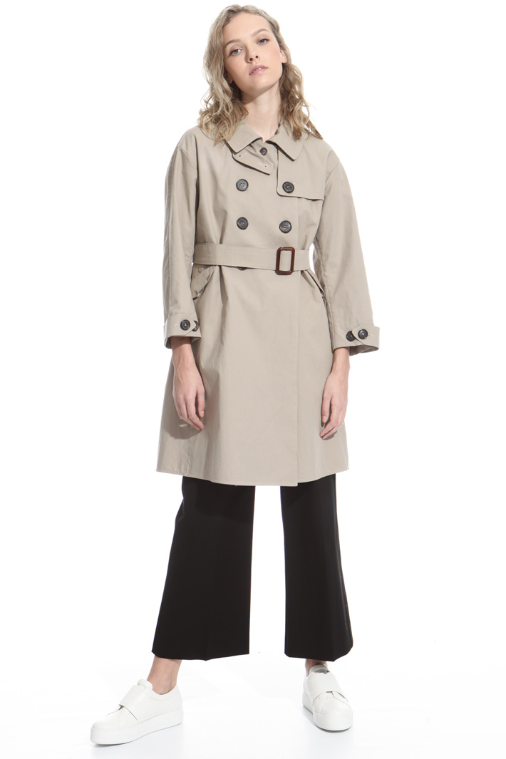 Cotton canvas trench Intrend