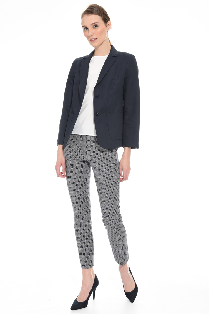 Cotton and linen blazer  Intrend