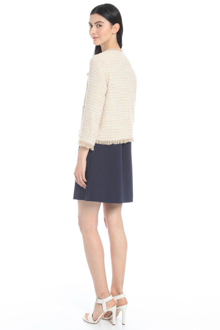 Knitted fabric jacket Intrend
