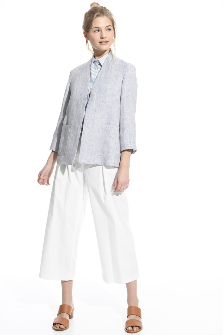 Deconstructed linen jacket Intrend