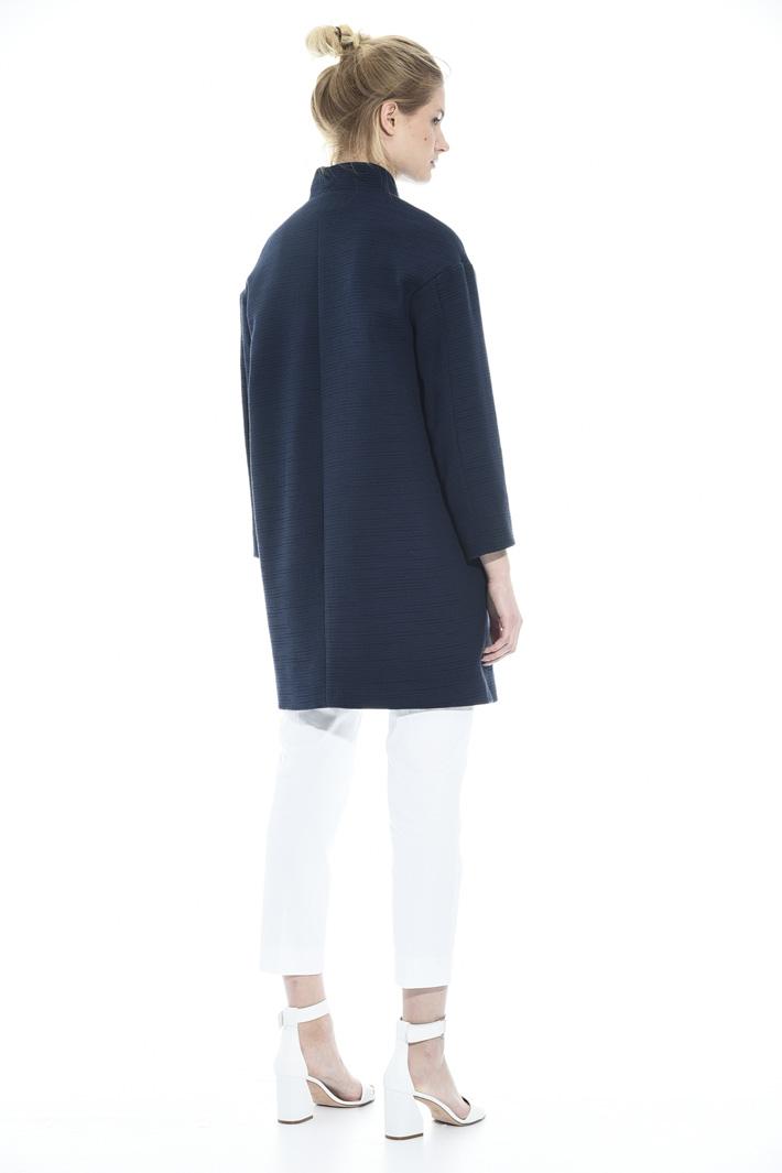 Textured fabric topcoat Intrend