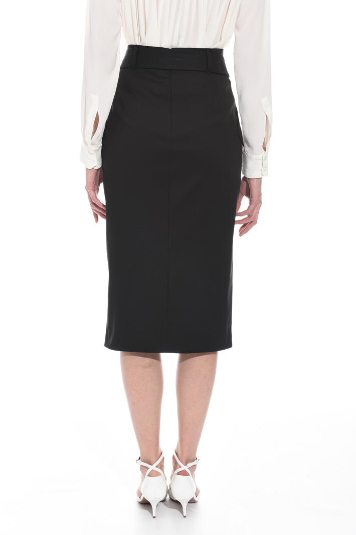 Buttoned gabardine skirt Intrend