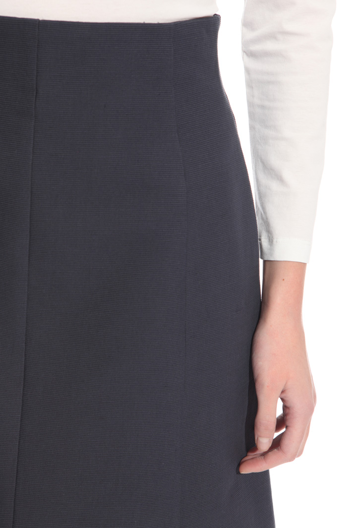 Cotton canneté skirt Intrend