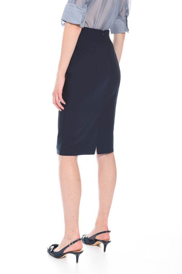 Stretch cotton pencil skirt Intrend