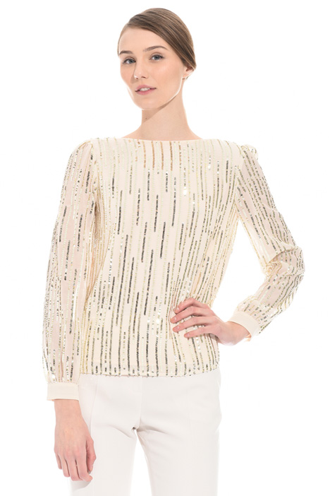 Top con paillettes Intrend