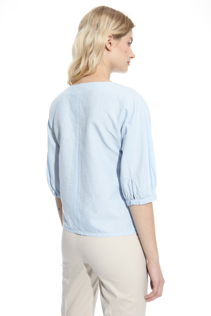Linen chambray blouse Intrend