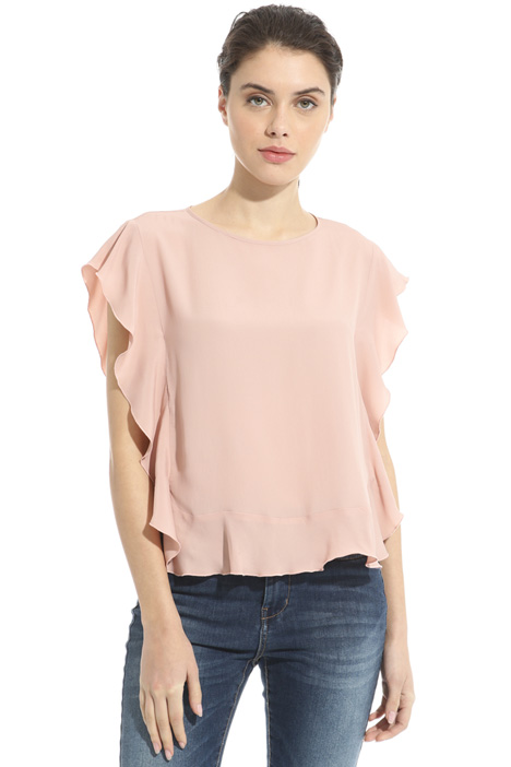 Crepe fabric top Intrend