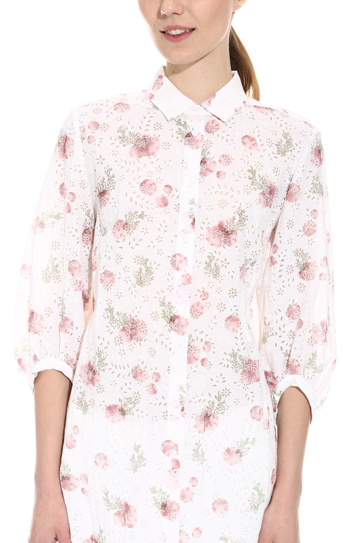 Devoré organza shirt Intrend
