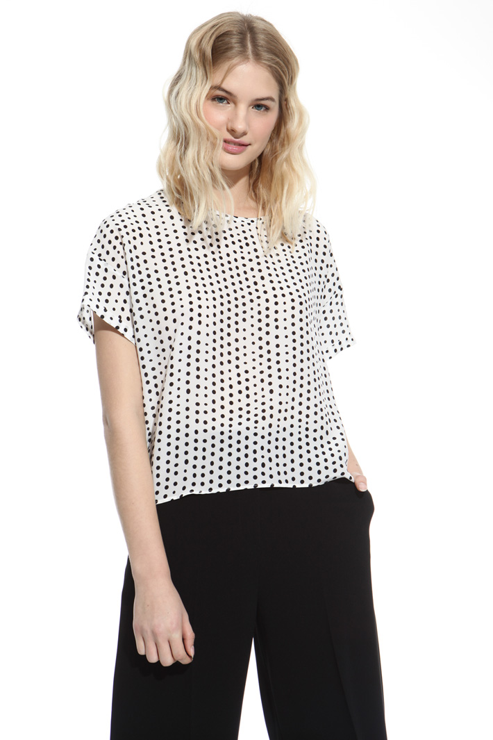 Printed silk top Intrend