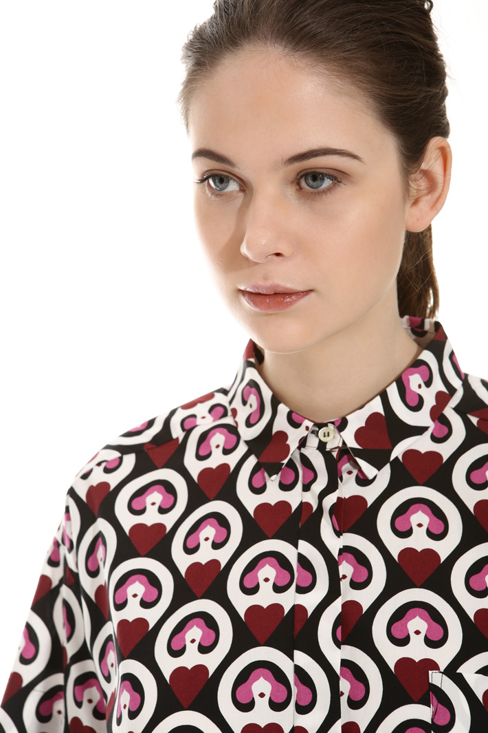Printed boxy shirt Intrend