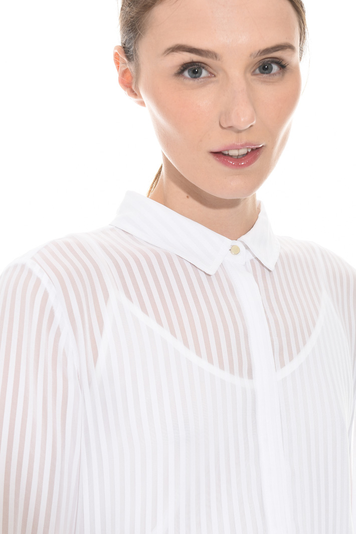 Asymmetrical striped shirt Intrend