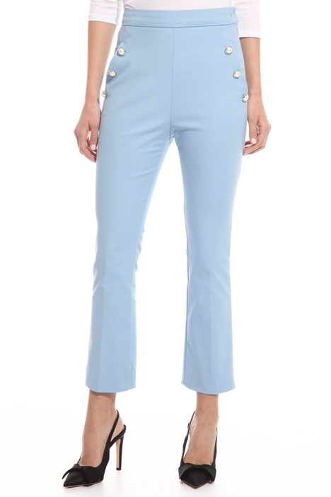 Pearl-style button trousers Diffusione Tessile